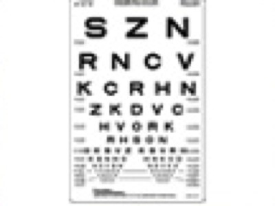 distance eye test chart: Sloan 10 foot translucent distance eye chart from precision vision