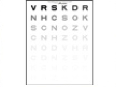 Pelli Robson Sloan Letter Contrast Chart From Precision Vision