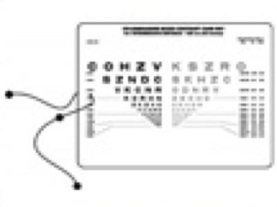 Colenbrander Reading, Intermediate and Computer Chart (2 card set)